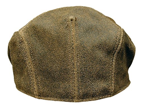 7259bb9c3 ROOSTER Distressed Leather Ivy Cap Newsboy Gatsby Driving Hat Golf Brown