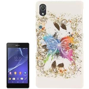 Butterfly Plastic Pattern Case Funda Carcasa Para Sony Xperia Z2 L50w /