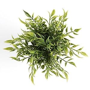 Cyrra 8 Inch high Bathroom Vanity Decor Ideas Indoor Artificial Grass Plants for Shelf Nandina 4