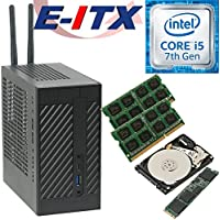 Asrock DeskMini 110 Intel Core i5-7400 (Kaby Lake) Mini-STX System , 8GB Dual Channel DDR4, 240GB NVMe M.2 SSD, 1TB HDD , WiFi, Bluetooth, Pre-Assembled and Tested by E-ITX
