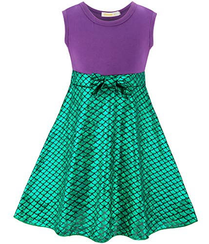 FUNNA Ariel Mermaid Costume for Toddler Girls Dress Birthday Party, 3T