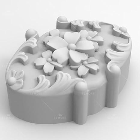 grainrain jabón molde de silicona Craft flor flexible jabón molde para hacer vela DIY moldes de