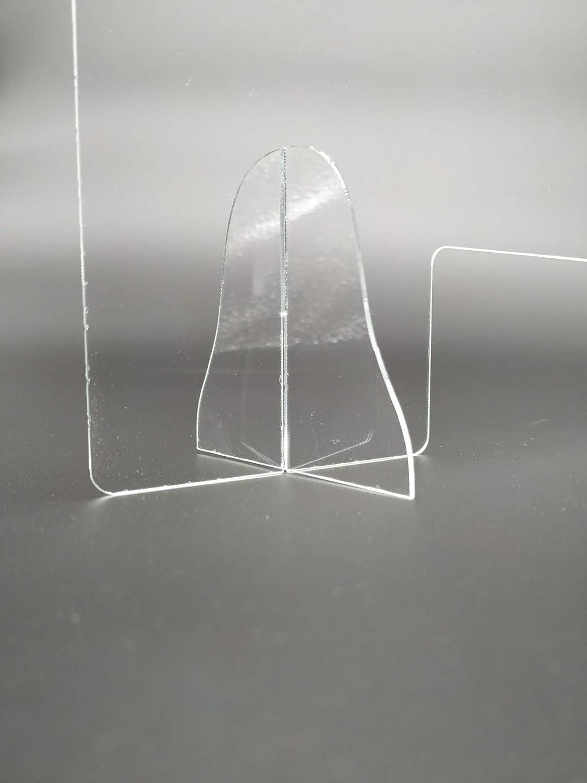 Mampara para mostrador. Mampara para protección del contagio. 90 x ...