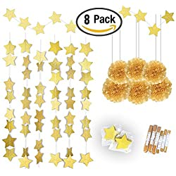 Gold Twinkle Star Garland