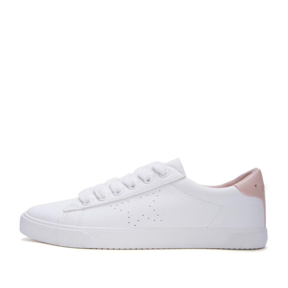 DHG Weiße Schuhe des Süßen Frühlingshochschulwinds, zufällige Schuhe der Süßen des Damenspitze, Runde Weiße Schuhe,Ein,37 9e6a92
