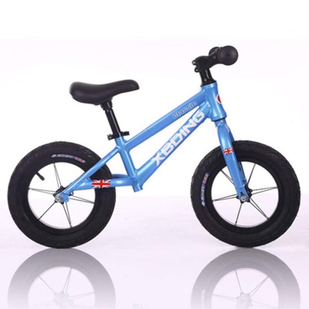 SSRS Ultraligero Paso Deslizante aleación de Aluminio sin Pedal Bicicleta niño Equilibrio Coche 2-3-6 años de Edad niños yo Coche (Color   azul )