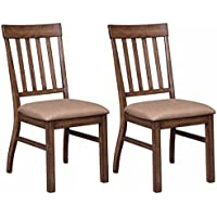 Ashley Furniture Signature Design - Zilmar Upholstered Dining Room Chair - Set of 2 - Light Brown
