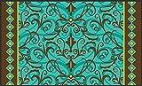 Toland Home Garden Damask 18 x 30 Inch Decorative Floor Mat Classic Swirl Design Pattern Doormat