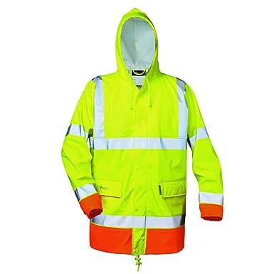 Bekleidung & Schutzausrüstung XXL Funsport Warnschutzregenjacke leuchtgelb Gr