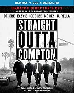 Cover Image for 'Straight Outta Compton (Blu-ray + DVD + DIGITAL HD with Ultraviolet)'