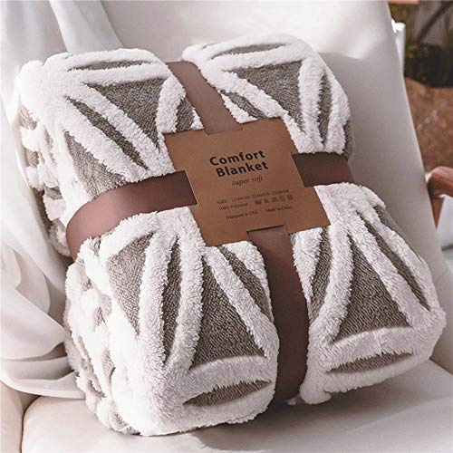 LOMAO Sherpa Fleece Blanket Fuzzy Soft Bed Blanket Dual Sided Throw Blanket fit Couch Sofa (Grey)