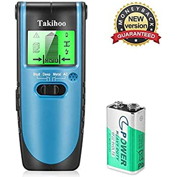 Stud Finder Sensor Wall Scanner - 4 in 1 Multi-Function Stud Sensor Electronic Stud Detector Digital LCD Display, Center Finding and Edge Finding-Sound ...