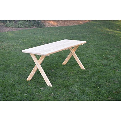 Kunkle Holdings LLC Unfinished Cross Leg Picnic Table in Pressure Treated Pine 8 feet 8 - Picnic Table Treated Pressure