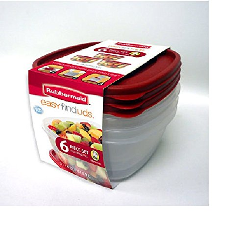 Rubbermaid 6 Piece Easy Find Lids Set