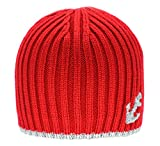 Baby Beanie Toddler Knitted Cute Lovely Anchor Hat Lined Cap For Bebe Girls and Boys (red)
