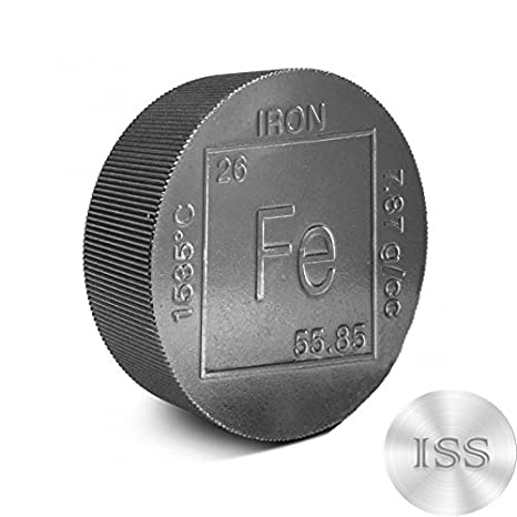 fine 999 pure iron 2lb round collectable element design 2 pounds