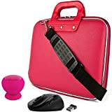 SumacLife's Pink Cady Messenger Bag for Lenovo Yoga / Flex / ChromeBook / Ideapad / Miix 11''-12inch + USB HUB and 4GB Thumb Drive