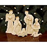 Lenox Innocence Nativity 6 Piece Figurine Set Holy Family Lamb Angel Shepherd Boy