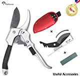 Kyпить Professional Sharp Pruning Shears 8 Inches Pathonor Hand Pruners Set Less effort SK-5 Steel Secateurs Tree Trimmers Garden Shears Clippers with Blade Spring Grindstone Screw Screwing Tool and Pouch на Amazon.com