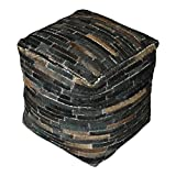 Tiago Dark Brown Pouf