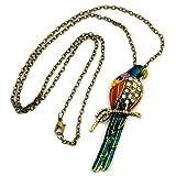Necklace, parrot, multi-colored 70cm