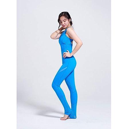 HGUIAZ Mujer Yoga Monos Jumpsuit con Empalme Malla Belleza ...