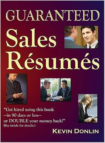guaranteed sales resumes - Guaranteed Resumes