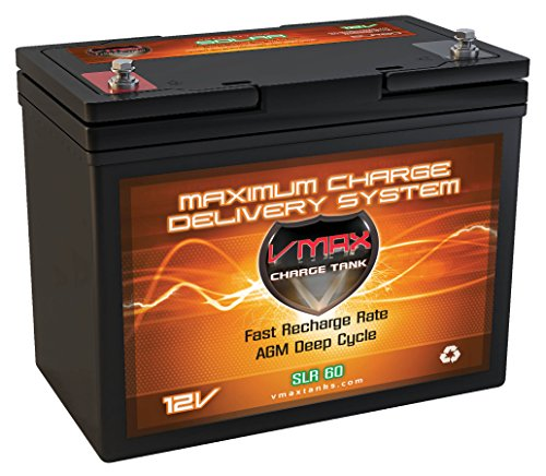 VMAX Solar Battery SLR60 Vmaxtanks AGM 60ah 12V Wind Power Backup Boat Lift & Solar AGM Battery