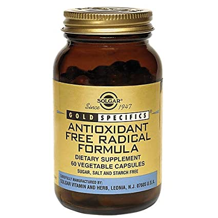 Solgar Gold Specifics™ Antioxidant Free Radical Modulators Cápsulas vegetales - Envase de 60