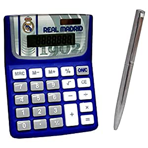 Real madrid set calculadora y boligrafo real madrid for Oficinas amazon madrid