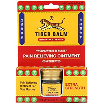 Tiger Balm Pain Relieving Ointment, Extra Strength, 0.63 Ounces (Pack of 3)