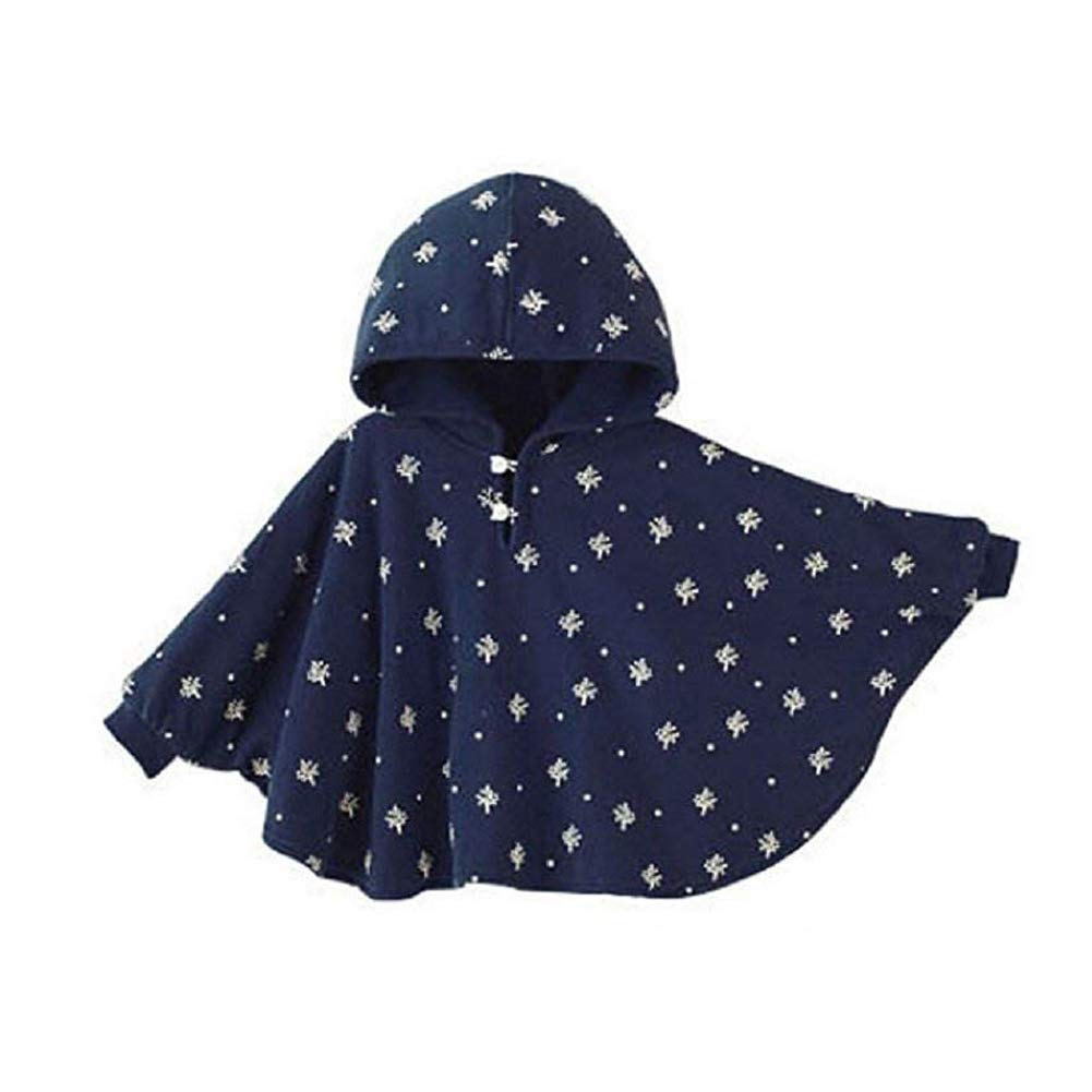 ieasysexy Winter Warm Double-Side Wear Hood Cape Poncho Coat for Toddler Baby Girs Boys