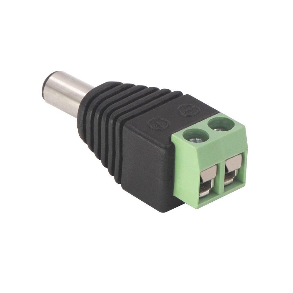 DC Buchse Steckverbinder DC Netzteil Stecker Adapter Netzadapter f/ür CCTV-Kamera LED-Streifen-Licht VCE 6 Paare DC 5,5 mm x 2,1 mm DC Stecker