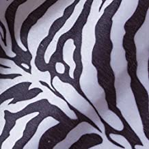 Lieomo Tiger leopard Animal Skin Print Fabric Quilting Indoor Upholstery, By Zhe Yard (Zebra Stripes)