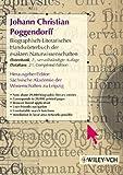 img - for Biographisch-literarisches Handworterbuch der exakten Naturwissenschaften, J. C. Poggendorff - Datenbank Update (Poggendorff: Biogrphisch-Literarische *See Series 2980* (VCH) *) (German Edition) book / textbook / text book