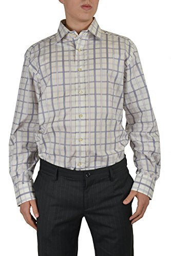 Etro Men's Multicolor Checkered Long Sleeve Dress Shirt Size US 17 IT 43