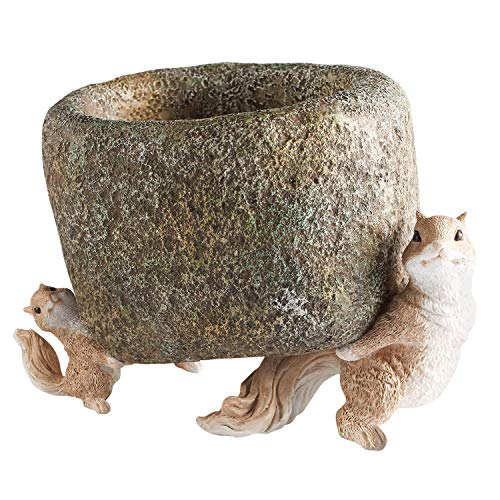 (Art & Artifact Pair of Squirrels Planter - Cast Resin)