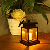 WSMY Solar light LED Candle Solar Panel Lamp Outdoor Hanging Umbrella Lantern for Garden Patio Yard Lawn Landscape Camping Decoration & Lighting (Candle Solar Lamp)