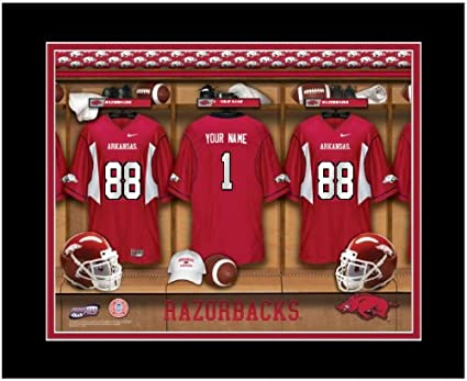 3b8464bf4 Image Unavailable. Image not available for. Color  NCAA Locker Room Print  Arkansas Razorbacks ...