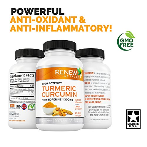 5164I %2B%2BUKL - DOUBLE STRENGTH TURMERIC + BLACK PEPPER Capsules! 2 Month Supply! 1300mg! Non-GMO Turmeric Curcumin w Bioperine. Benefits Anti-inflammatory & Anti-Aging. Feel Less Joint Pain in 2 weeks!