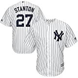 #6: Majestic Giancarlo Stanton New York Yankees MLB Youth White Home Cool Base Replica Jersey