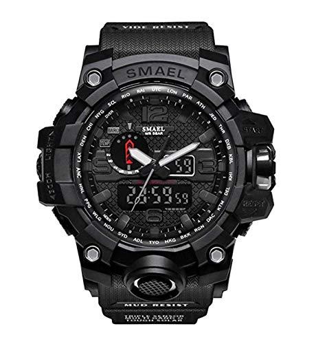 Black Men's Military Analog Digital Watch Display Sport Watch Multifunctional Large Wrist Watches for Men Waterproof Shock Resist Digital LED G-SHOCK Alternative Colors Available