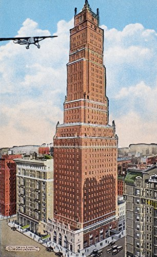 57th Street Manhattan - New York Ritz Tower Nthe Luxury Apartment Hotel Built In 1925 On Park Avenue And 57Th Street In Manhattan American Postcard C1930 Poster Print by (18 x 24)