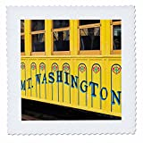 3D Rose New Hampshire Bretton Woods Mount Washington Cog Railway 01 Quilt Square 14 by 14 inch, 14 x 14