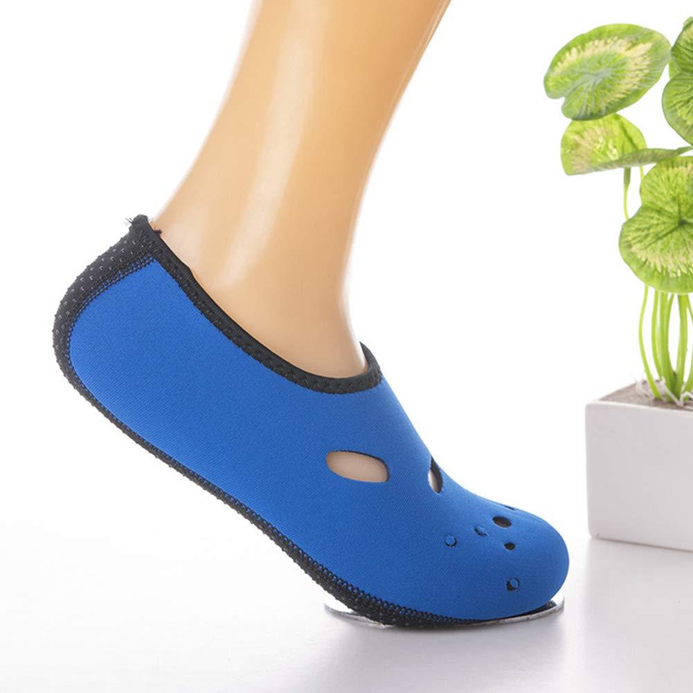 Zapatos de la Playa de Secado r/ápido Barefoot Calcetines de Agua Impermeable Anti Slip Aguamarina Zapatos resbal/ón en los Zapatos de Agua