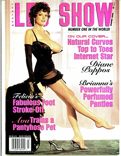 Leg Show Busty Adult Magazine March 1999 Diane Poppos - Magazine Leg