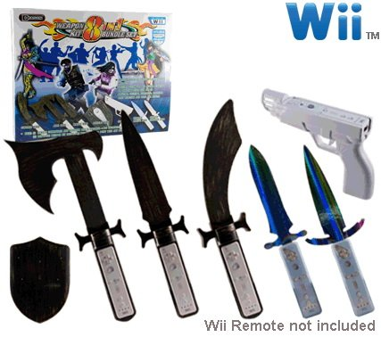 DDR Game Nintendo Wii 8-in-1 Weapons Bundle Kit
