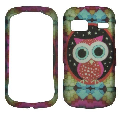 2D Colorful Owl LG Rumor Reflex LN, UN272 LG Xpression / Freedom UN272 C395/ Converse AN272 (Boosts Mobile, Sprint at&t,U.S. Cellular) Case Cover Phone Snap on Cover Case Protector Case (Lg Rumor Reflex Cover compare prices)