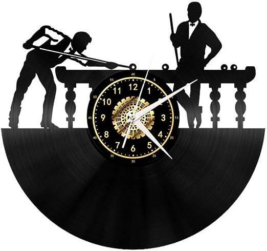 ClockHM Vinilo Vinilo Reloj de Pared Escena de Billar - Ambiente ...