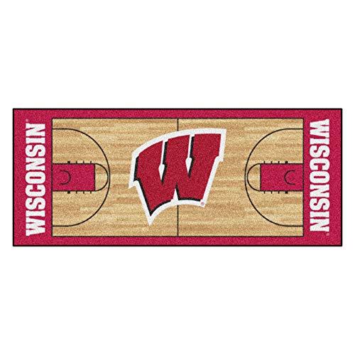 FANMATS NCAA University of Wisconsin Badgers Nylon Face Basketball Court ()
